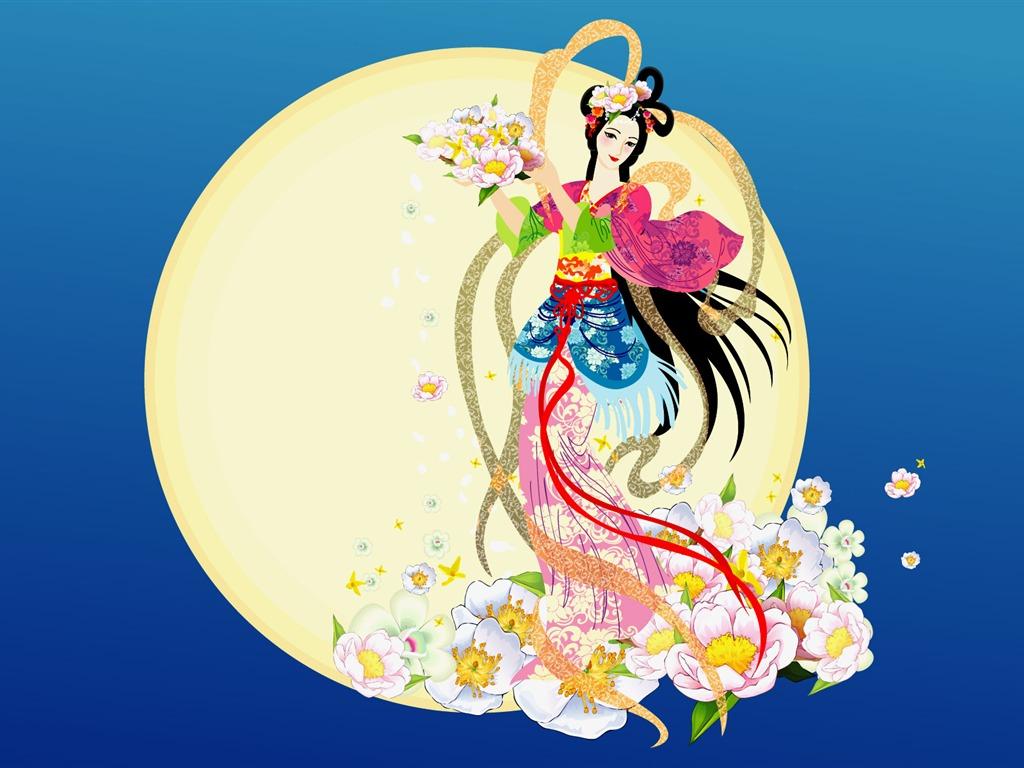 嫦娥奔月 中秋节壁纸特辑