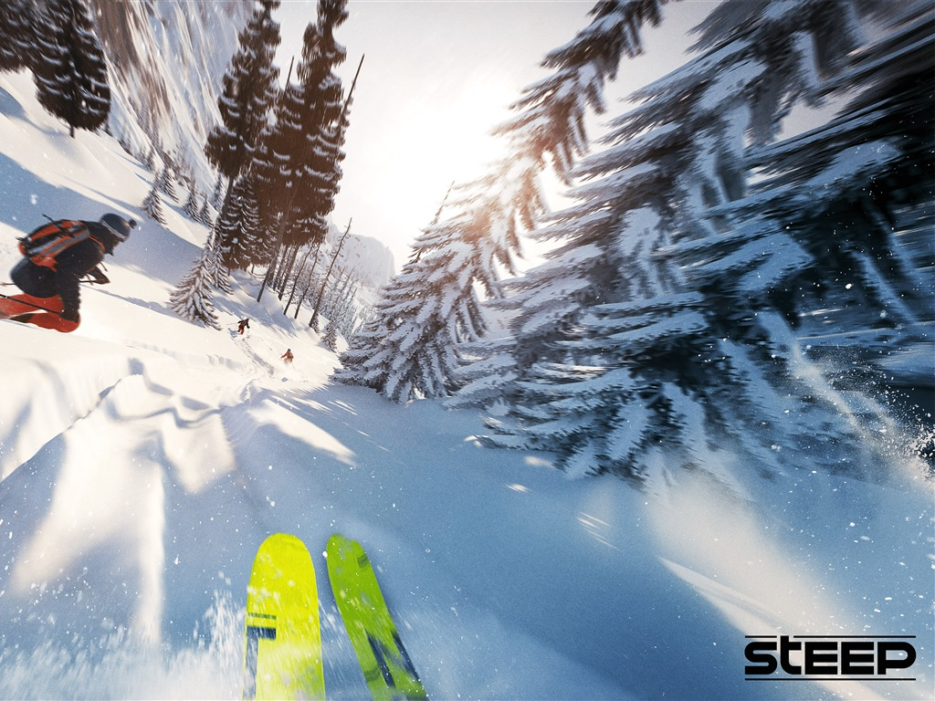 Ski competition Steep Game 4K - 1024x768 wallpaper download