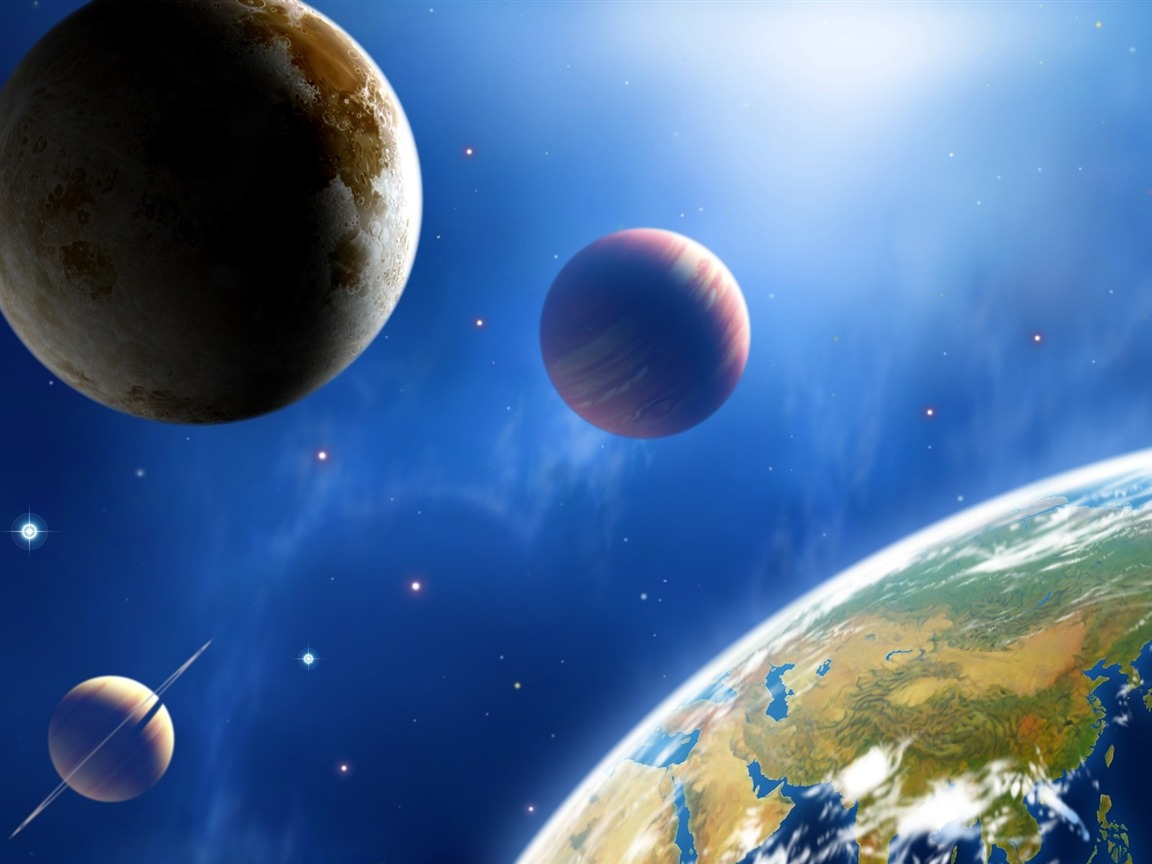 38 cg illustrator space universe planet
