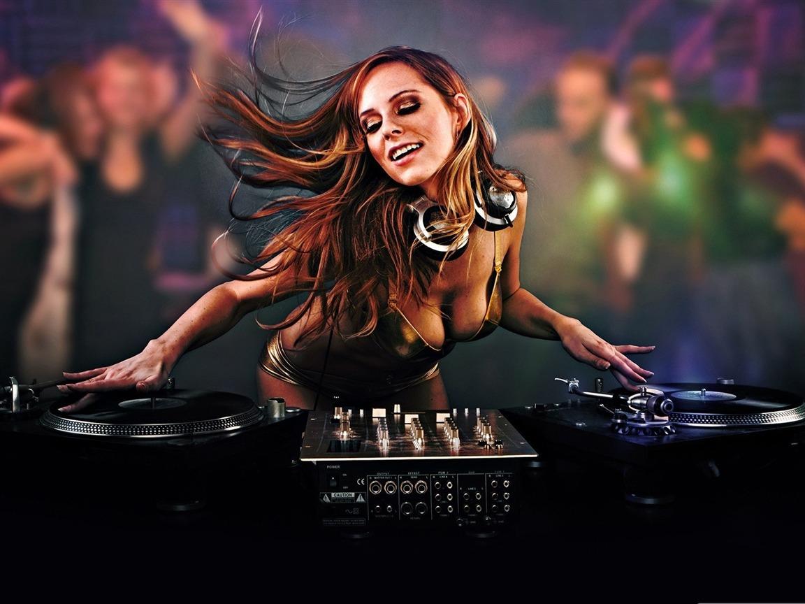 美女DJ 音乐桌面图片图片