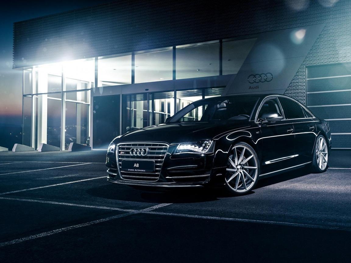 Audi a8 noir voitures hd fond d 39 cran 1152x864 for Fond ecran s8
