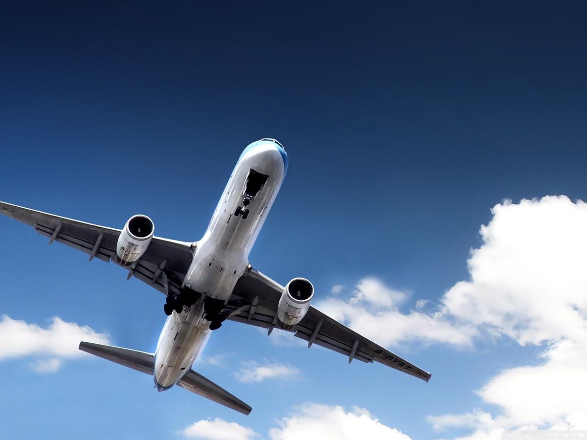 飞机起飞-民航航空飞机桌面壁纸图片