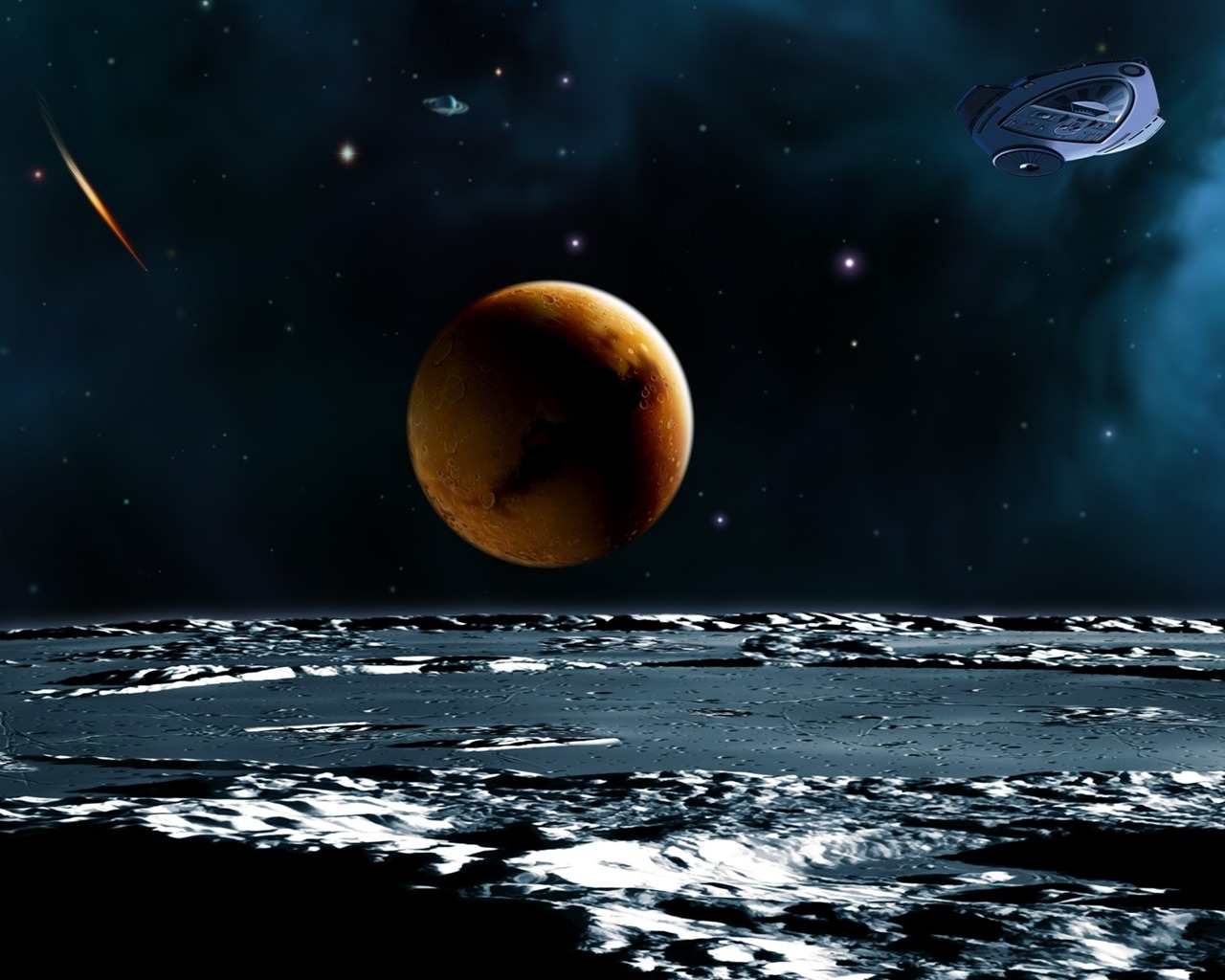 13 CG illustrator space planet universe-the universe stars planets ...