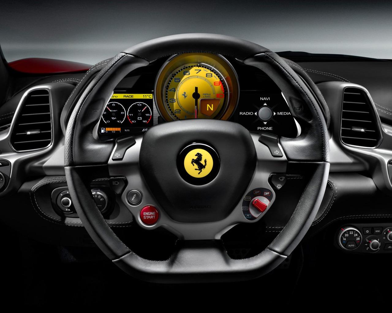 Ferrari Italia 458 >> 方向盘-法拉利458系列顶级跑车壁纸预览 | 10wallpaper.com