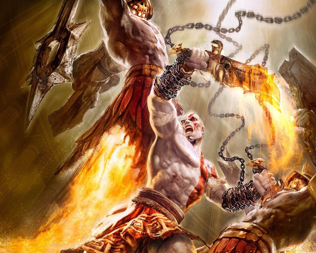 god of war战神高清游戏壁纸 - 1280x1024 壁纸 下载图片