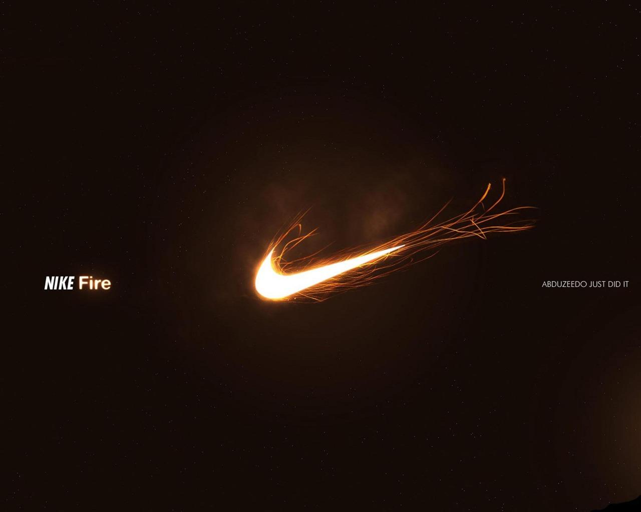 Nike耐克火焰-品牌广告壁纸预览