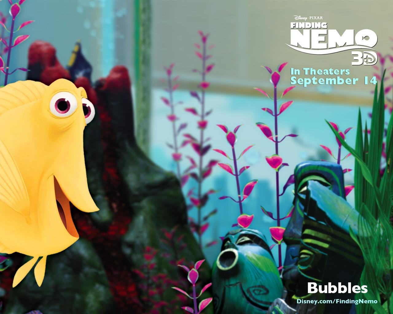 Finding Nemo D Animasi Hd Wallpaper: Bubbles-Finding Nemo 3D 海底总动员 3D 2012电影HD桌面壁纸预览