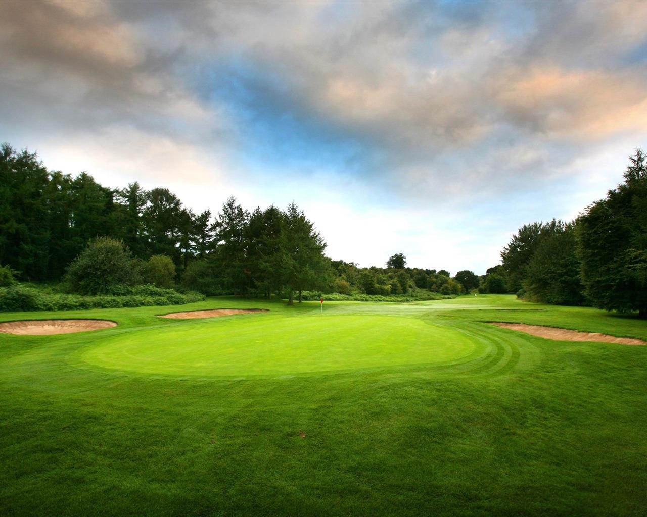 绿色高尔夫球-绝美的风景高清壁纸 - 1280x1024 壁纸 下载图片