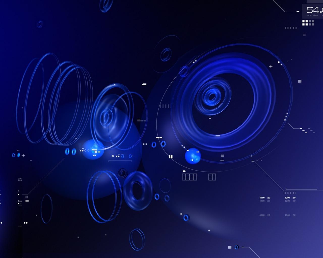 蓝黑色的抽象-科技品牌广告高清壁纸