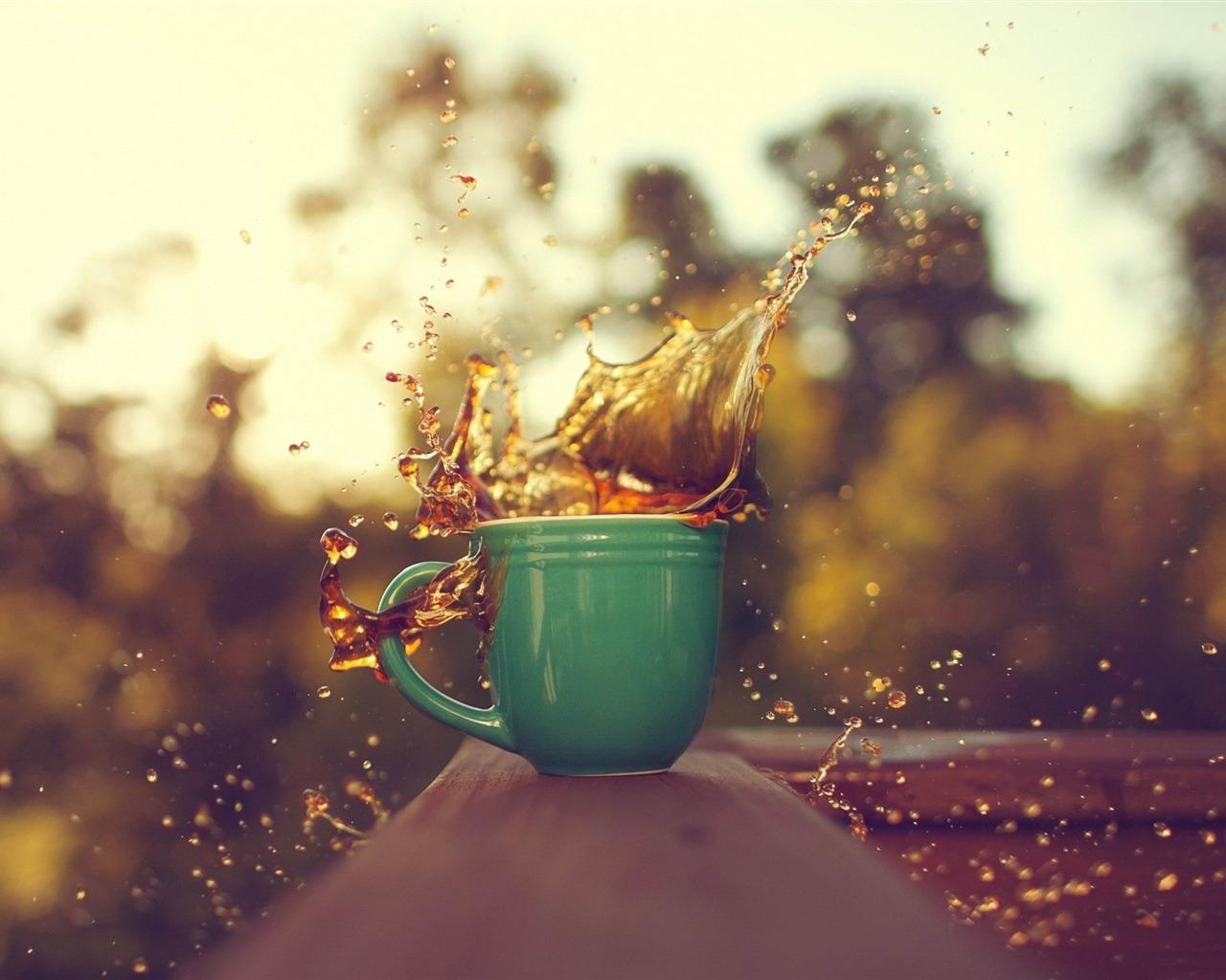 茶杯飞溅-高清桌面壁纸 - 1280x1024 壁纸 下载图片