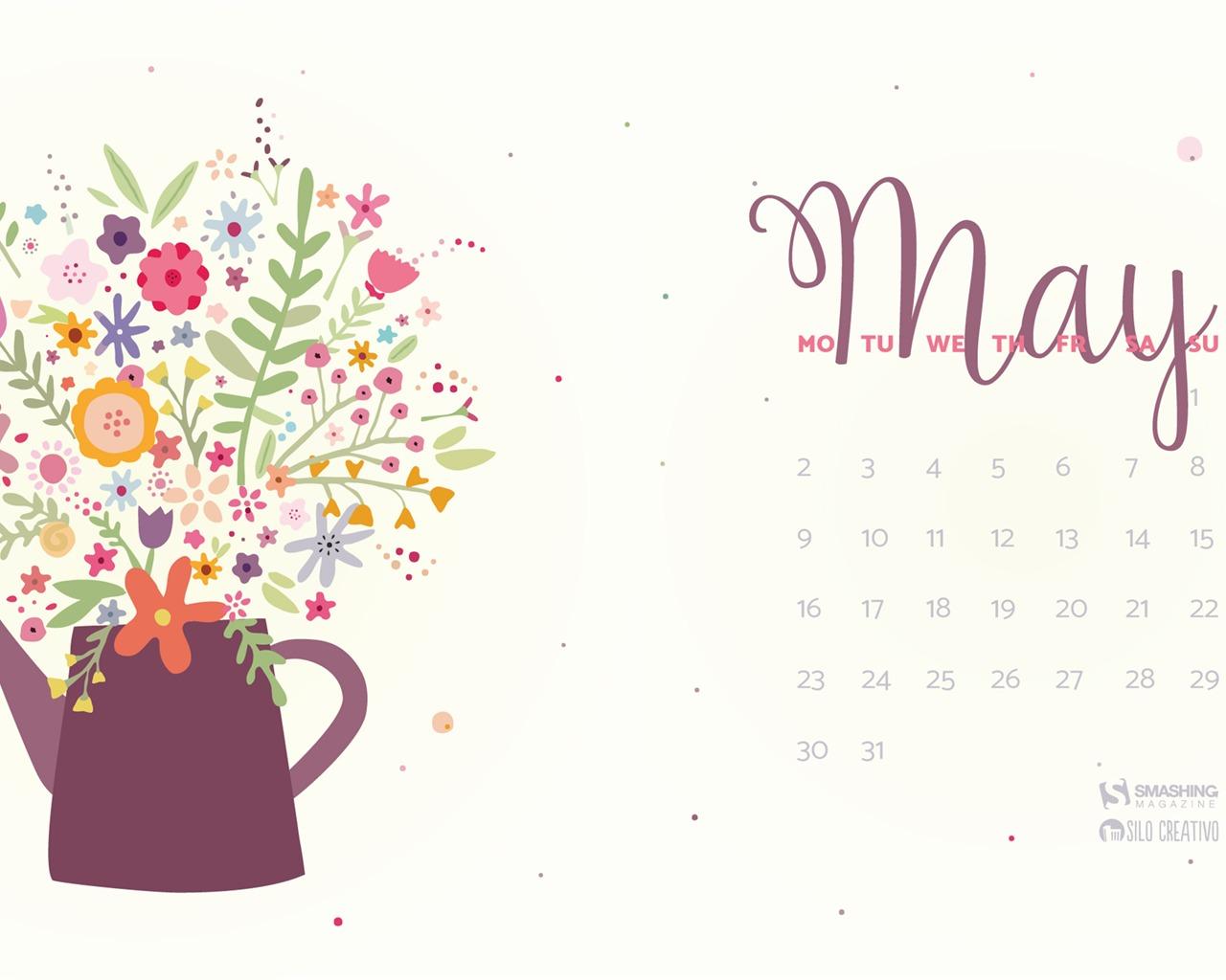 五月日历表_添加颜色给你的生活-2016年五月日历桌面壁纸