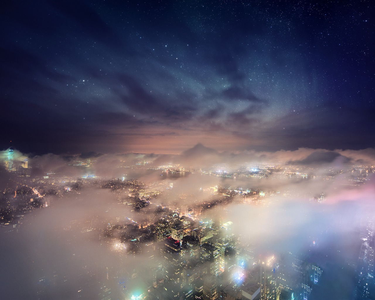 繁华的城市风光照片高清桌面壁纸 - 1280x1024 壁纸 下载图片