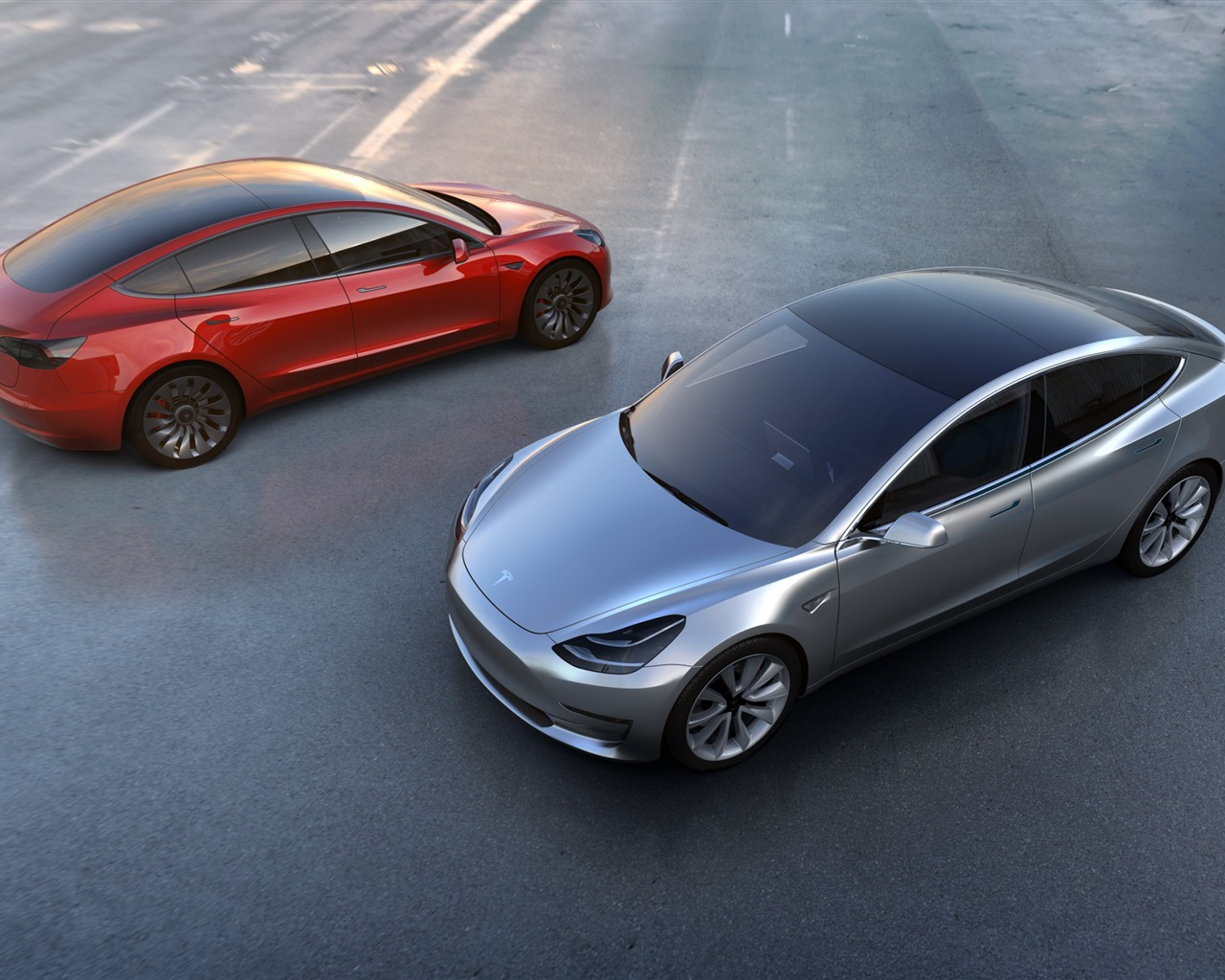 Tesla Model 3 豪华轿车高清壁纸预览 10wallpaper Com