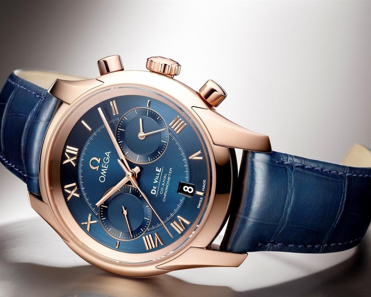 欧米茄ville蓝色手表-2016 高品质壁纸图片