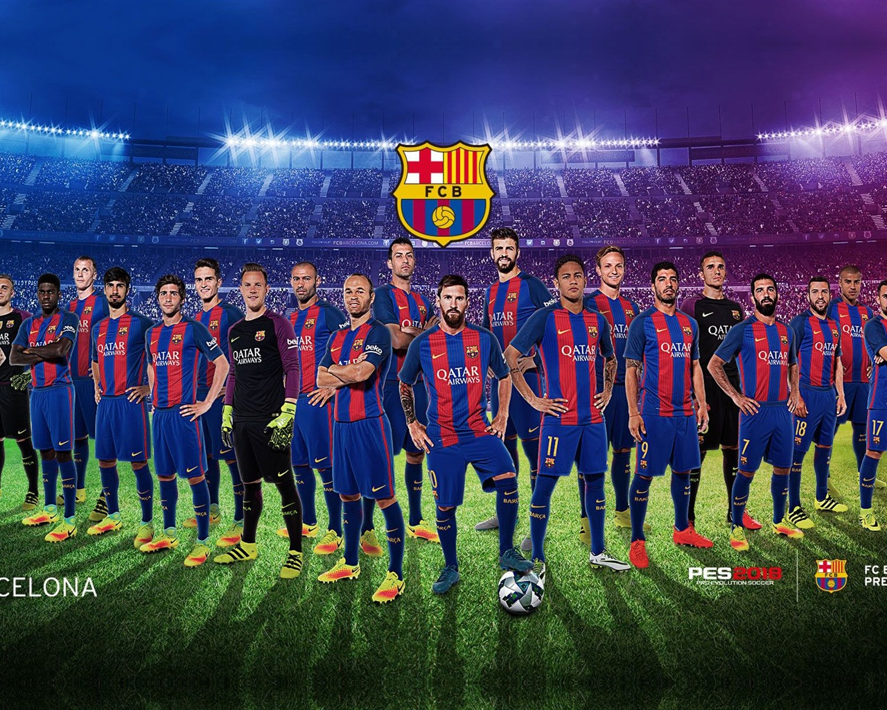 FC Barcelona Team Photography 2019 Poster Preview ...