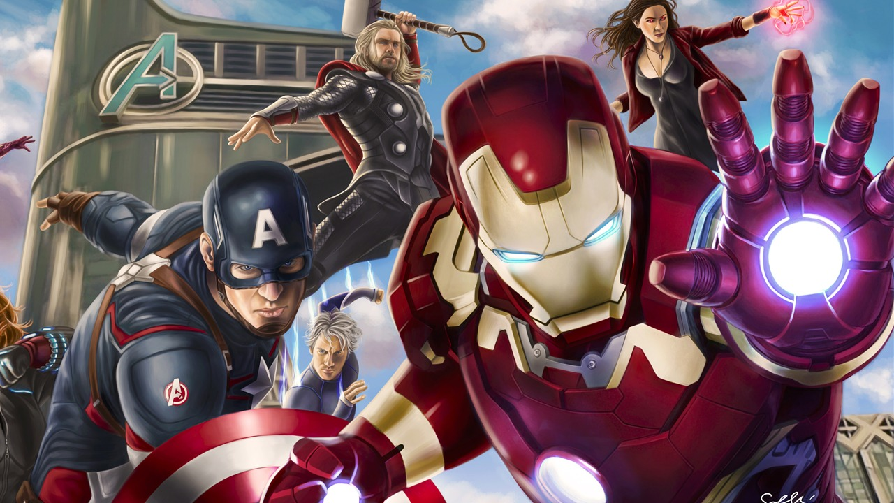 Avengers League Poster Artwork Design - 1280x720 wallpaper download