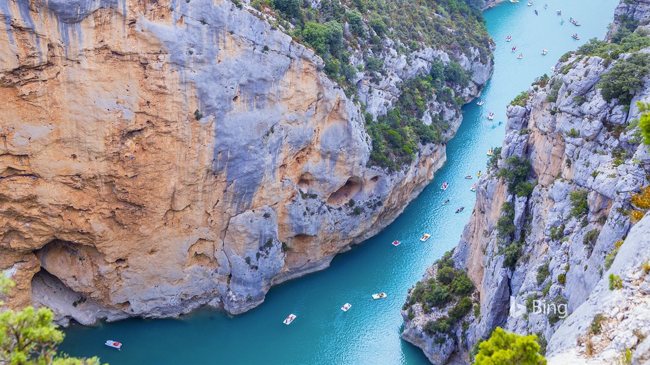 France Provence Alpes Blue St Croix Lake 2018 Bing - 1280x720 wallpaper download