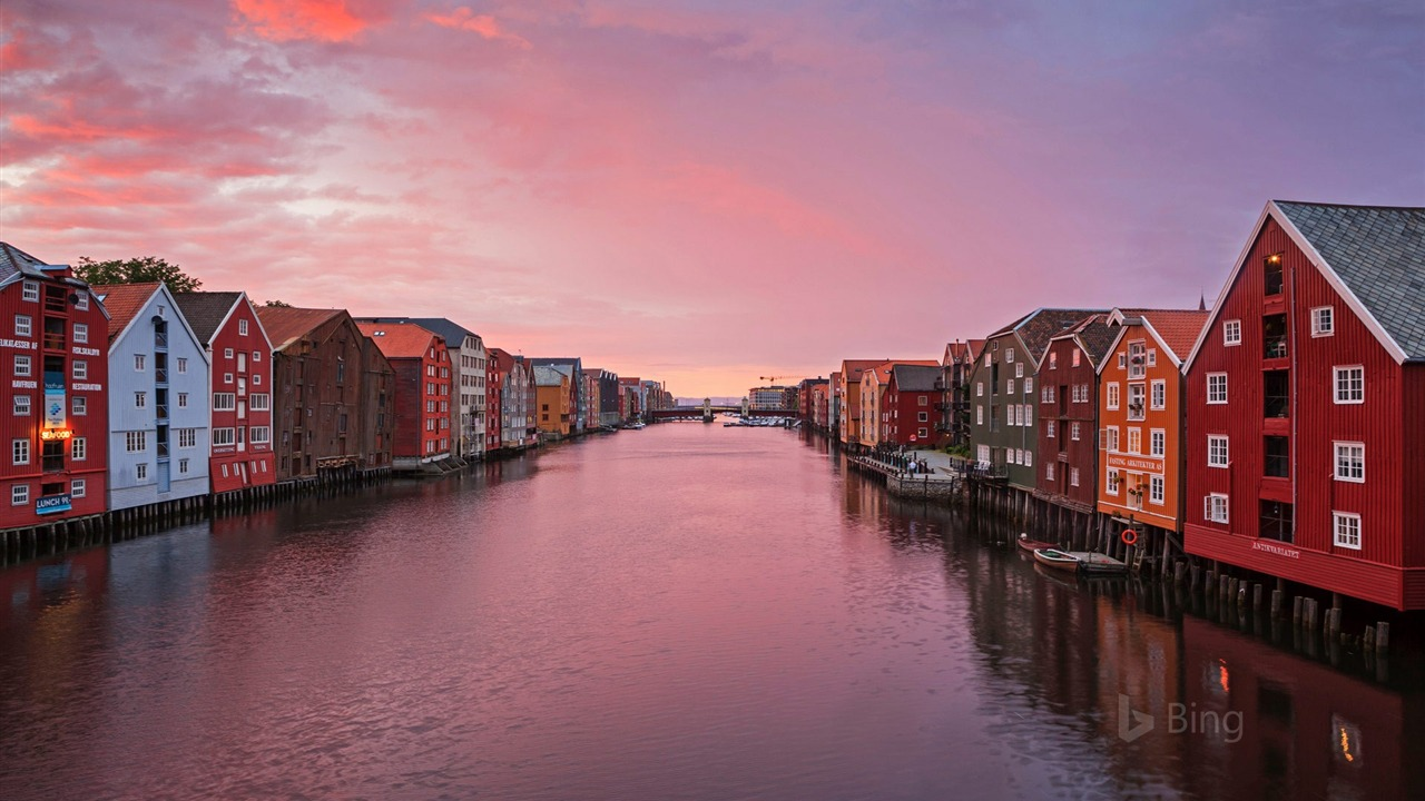 Norway Trondheim fishing warehouse 2018 Bing - 1280x720 wallpaper download