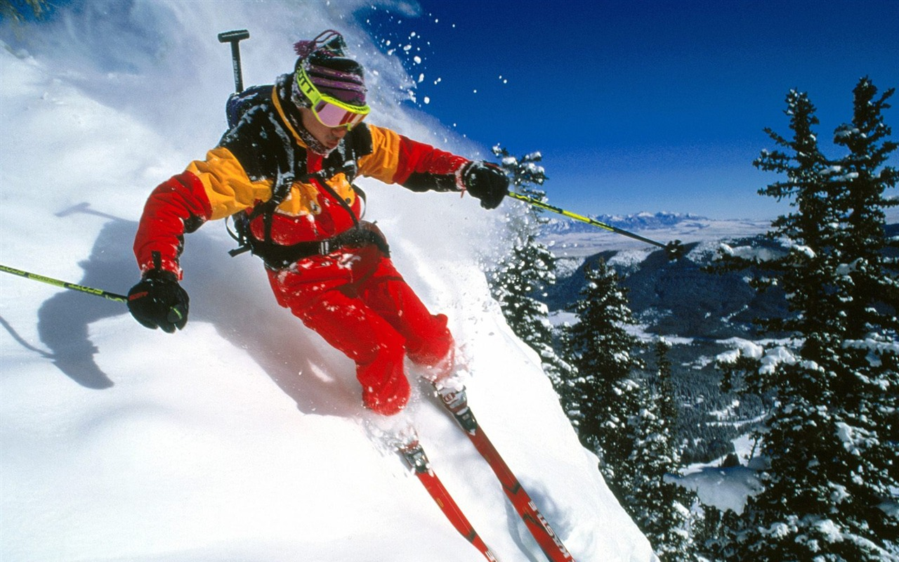 sports Skiing-outdoor  wallpaper series Alpine second -