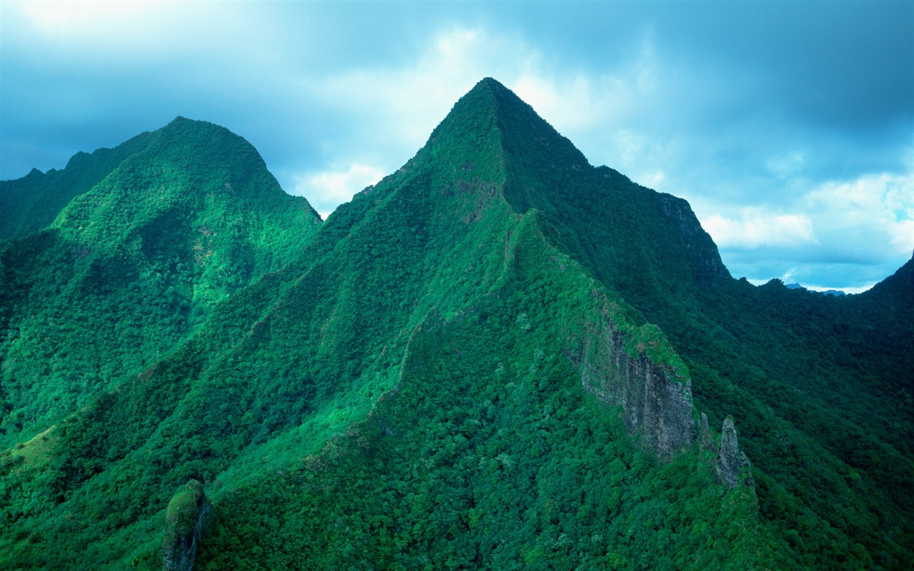 tahiti green mountains wallpaper preview 10wallpapercom