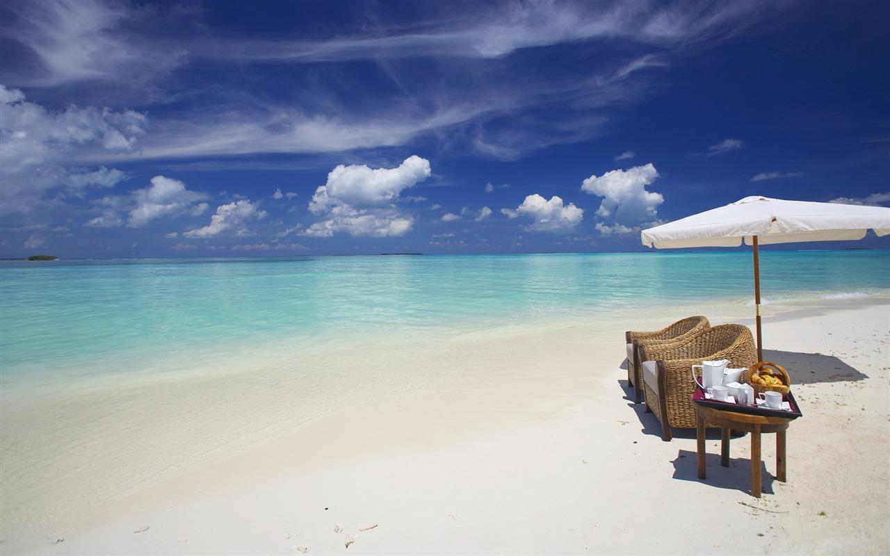 马尔代夫海洋沙滩-风光高清壁纸图片