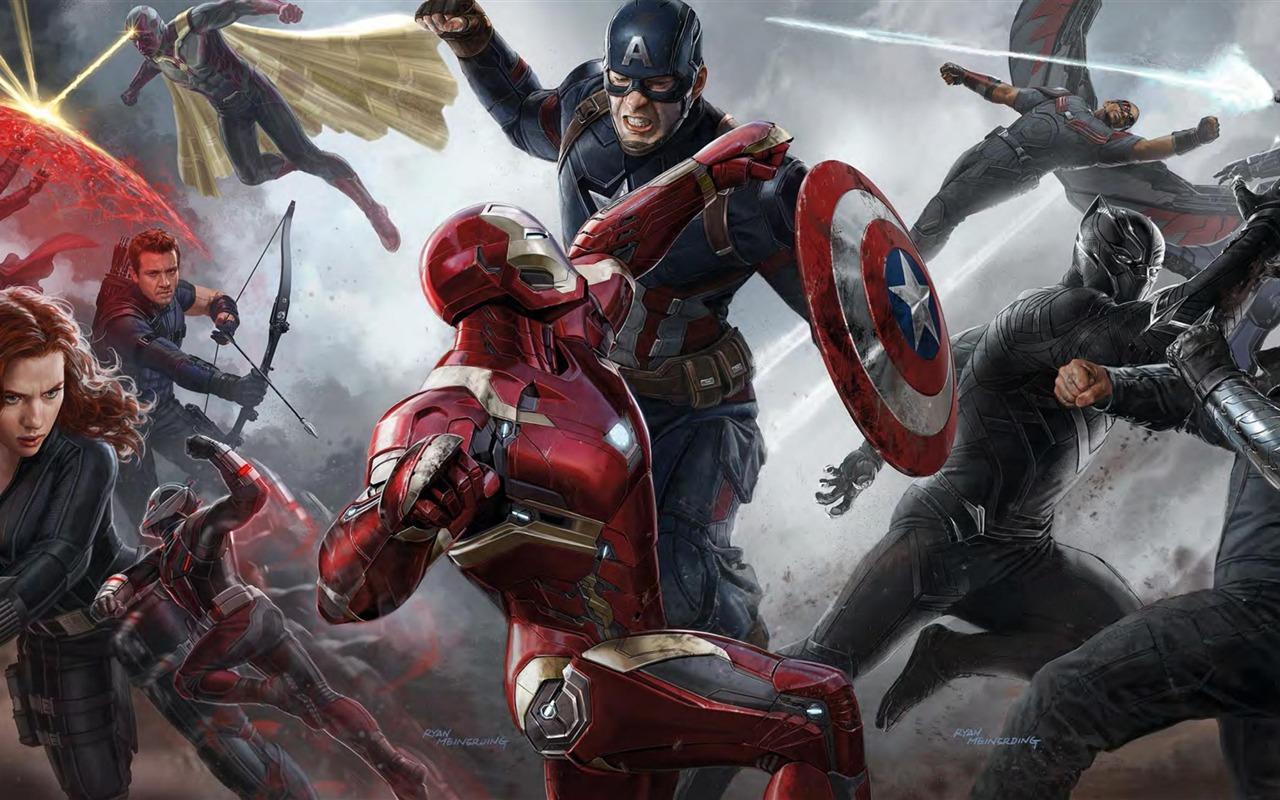 动漫电影下载_captain america:civil war 2016 电影高清壁纸 - 1280x800 壁纸 下载