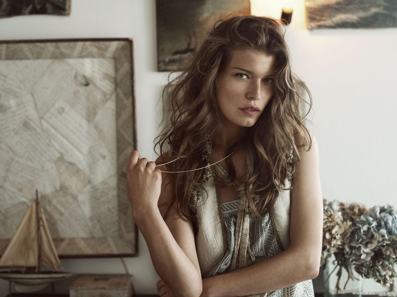 Description: Danish supermodel Louise Pedersen summer wallpaper 09 ... Supermodel