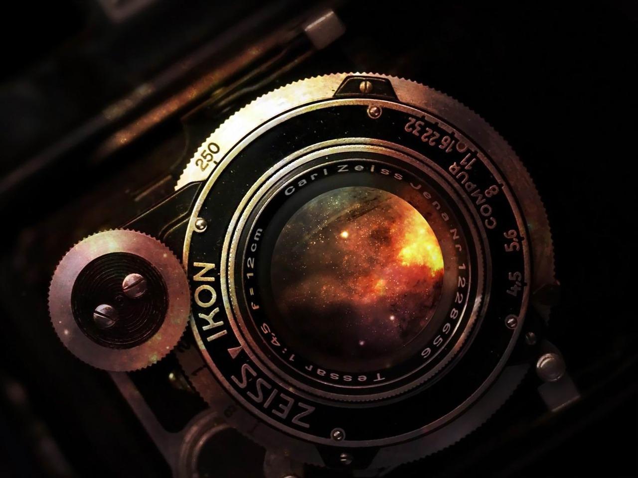 l'espace dans la lentille appareil photo vintage-World Photography Fond d'écran Aperçu ...