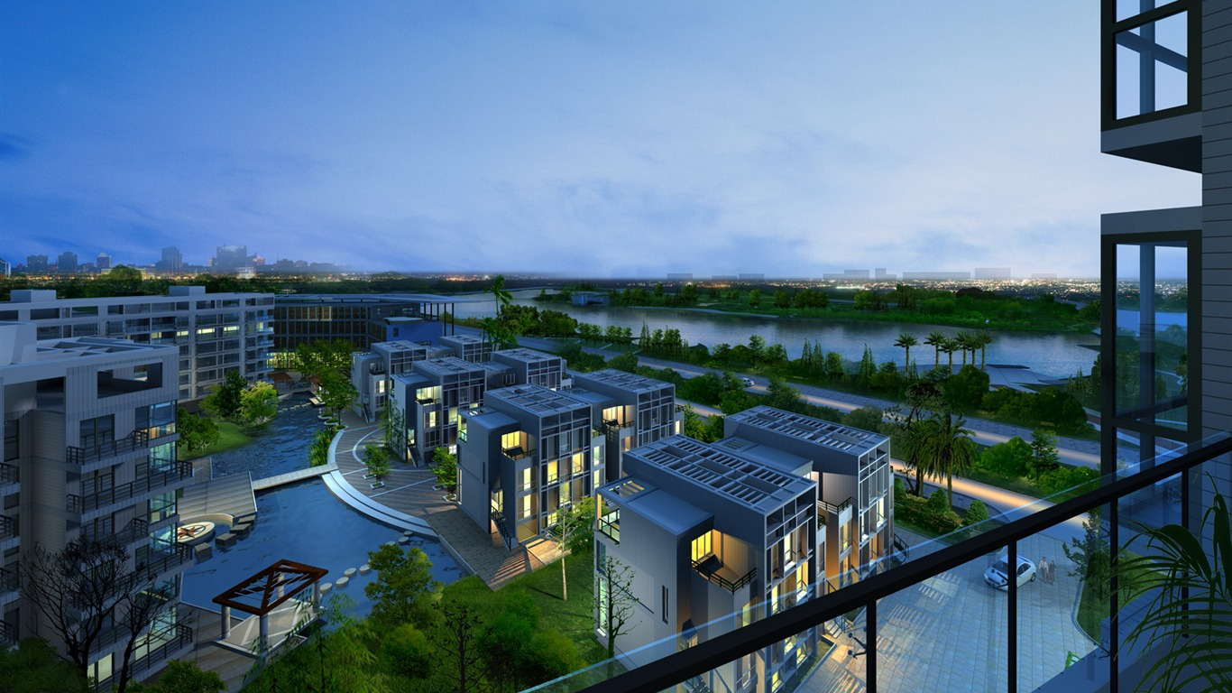 3d Architectural Rendering Of Residential Buildings 01