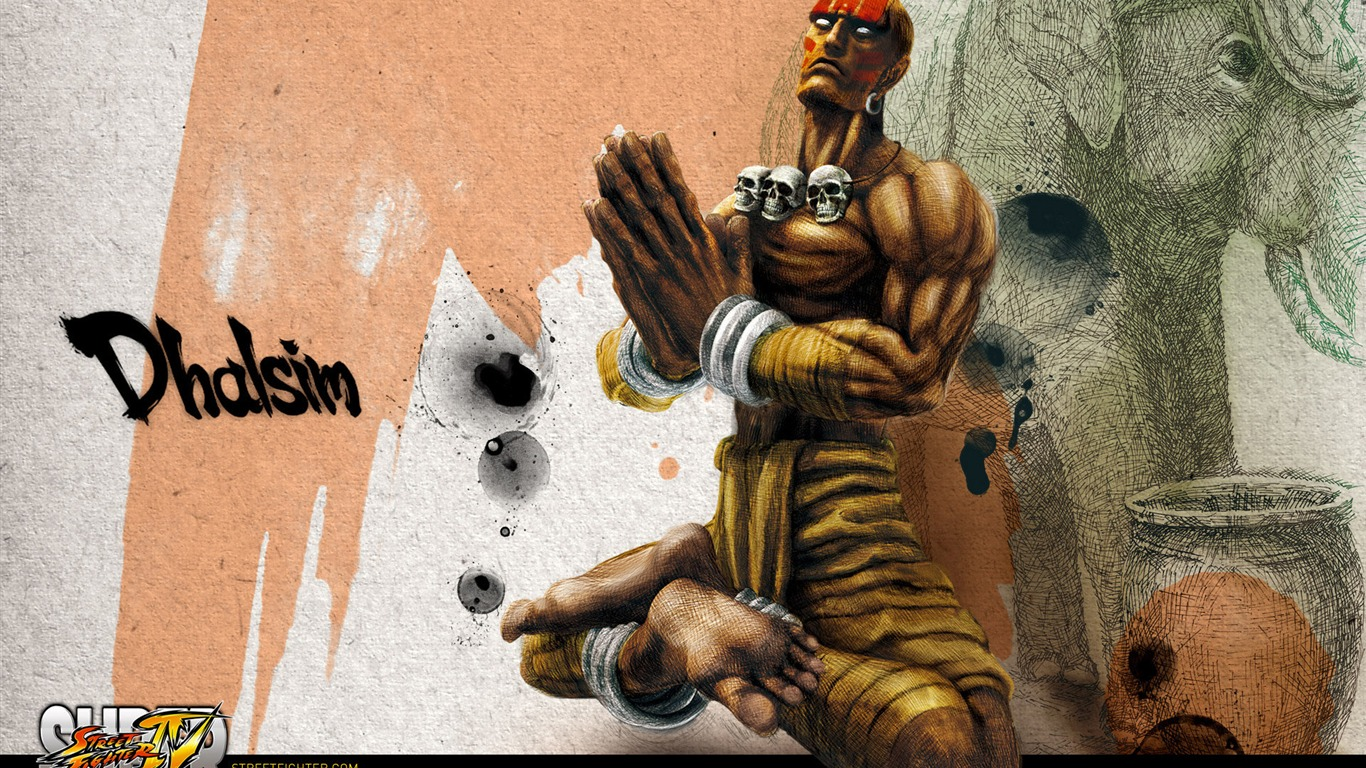 Dhalsim-Super_Street_Fighter_4_original_painting_wallpaper