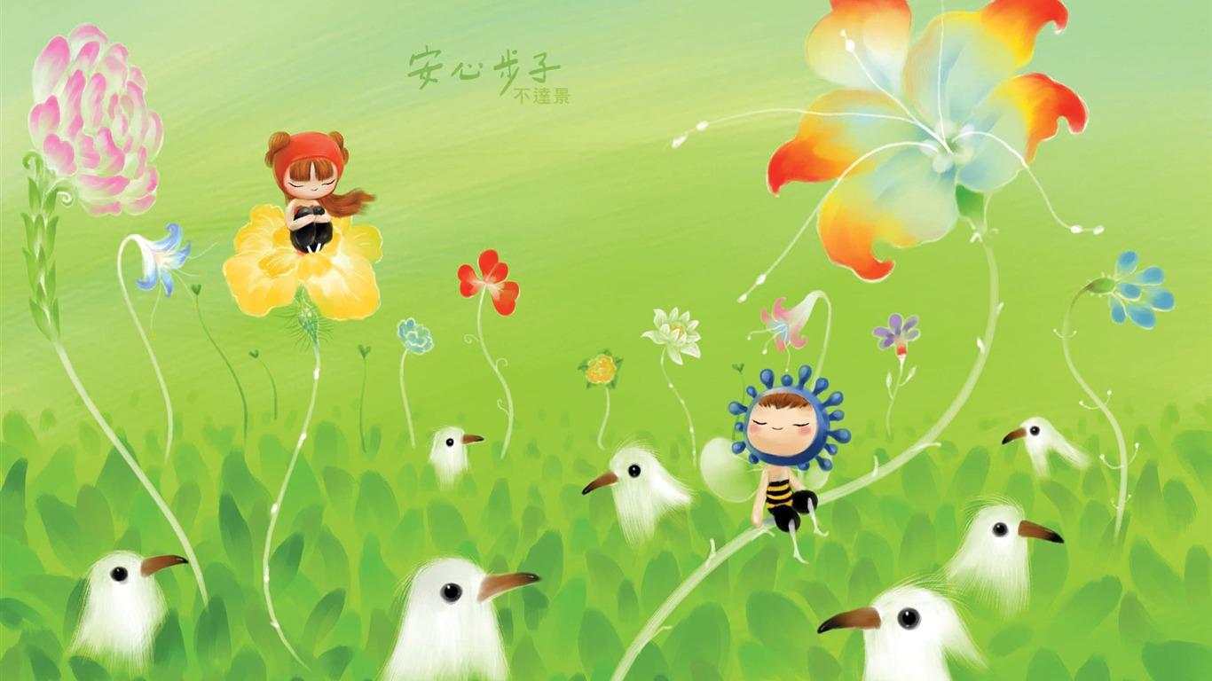 台湾の王は美しいイラストレーターイラストレーターの壁紙では