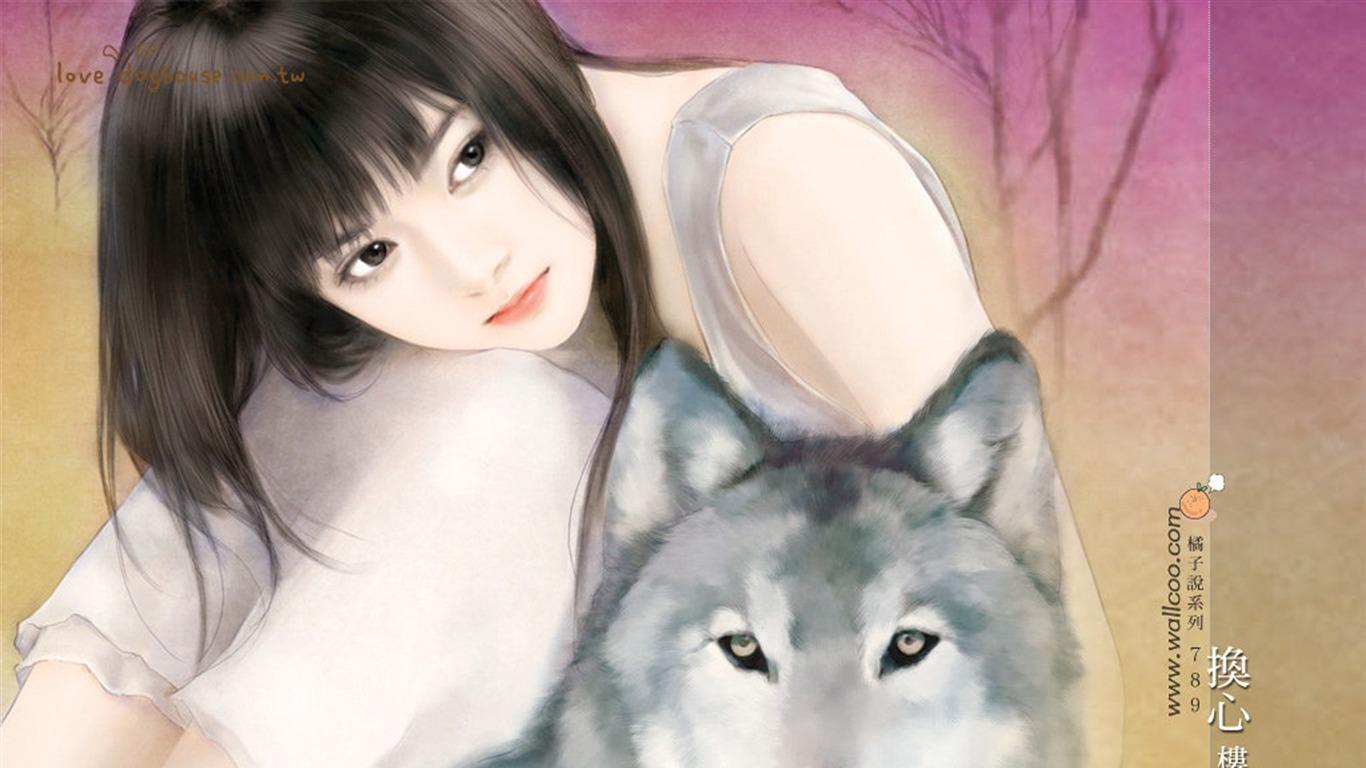 描述: 换心-言情小说封面-清纯手绘美女 当前壁纸尺寸: 1366 x 768