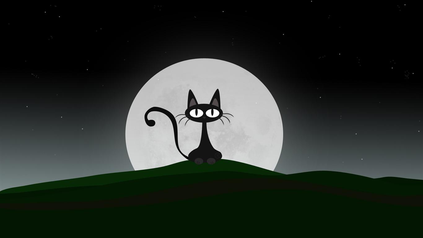 Cat cartoon character hd desktop wallpaper preview - Cartoon cat background ...