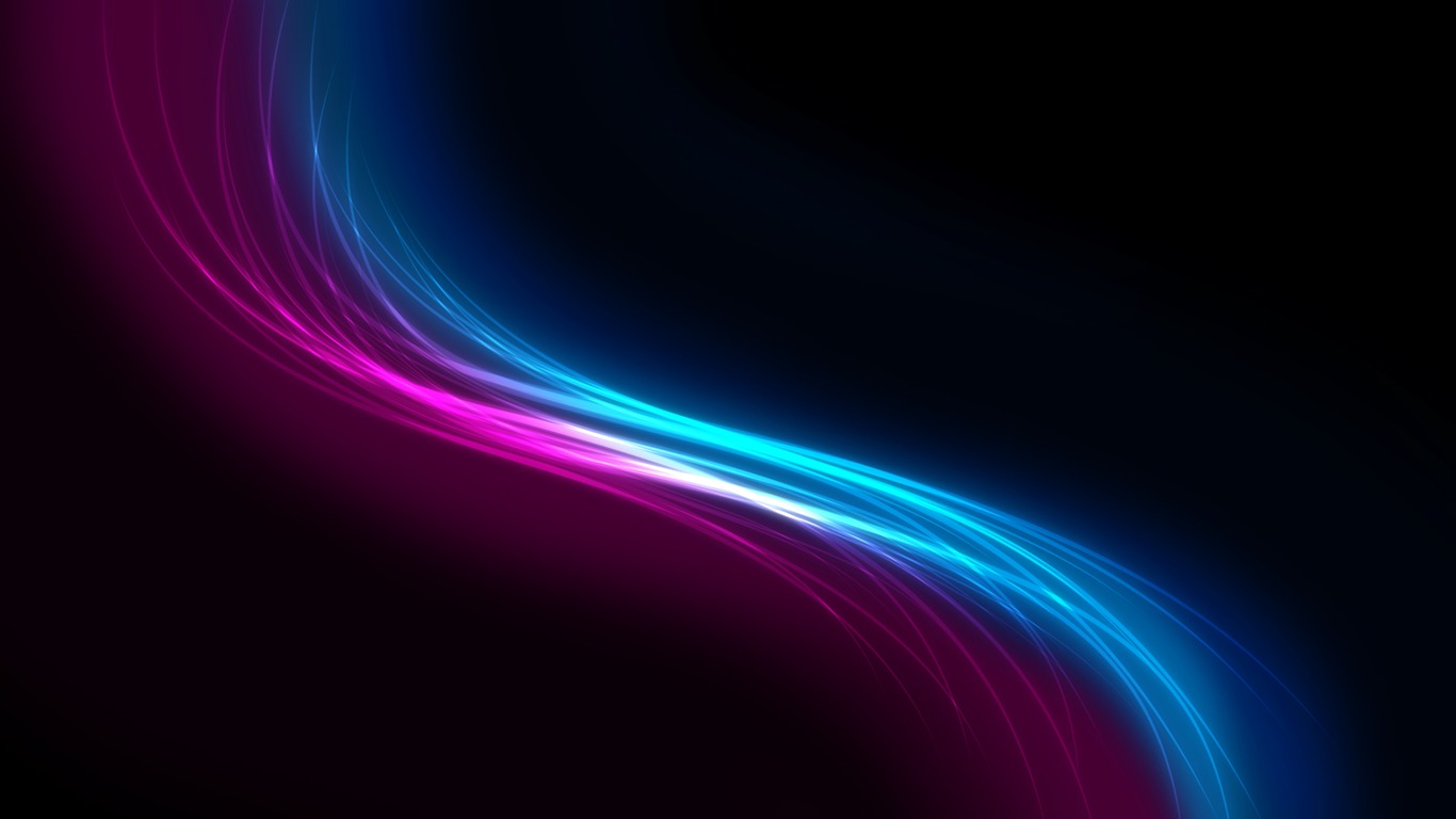 Purple blue curve-abstract design wallpaper background glare - 1366x768 wallpaper download