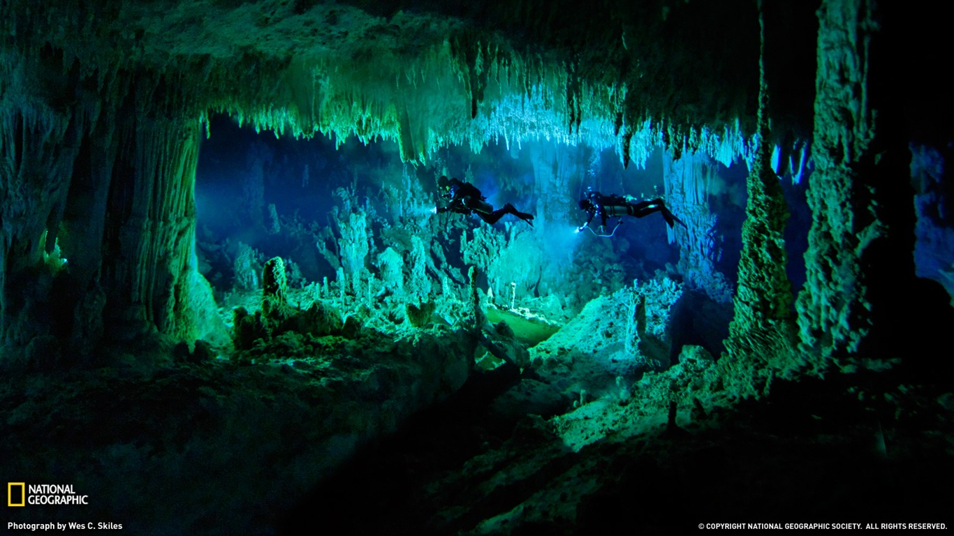 Underwater cave - Bahamas - National Geographic wallpaper ...