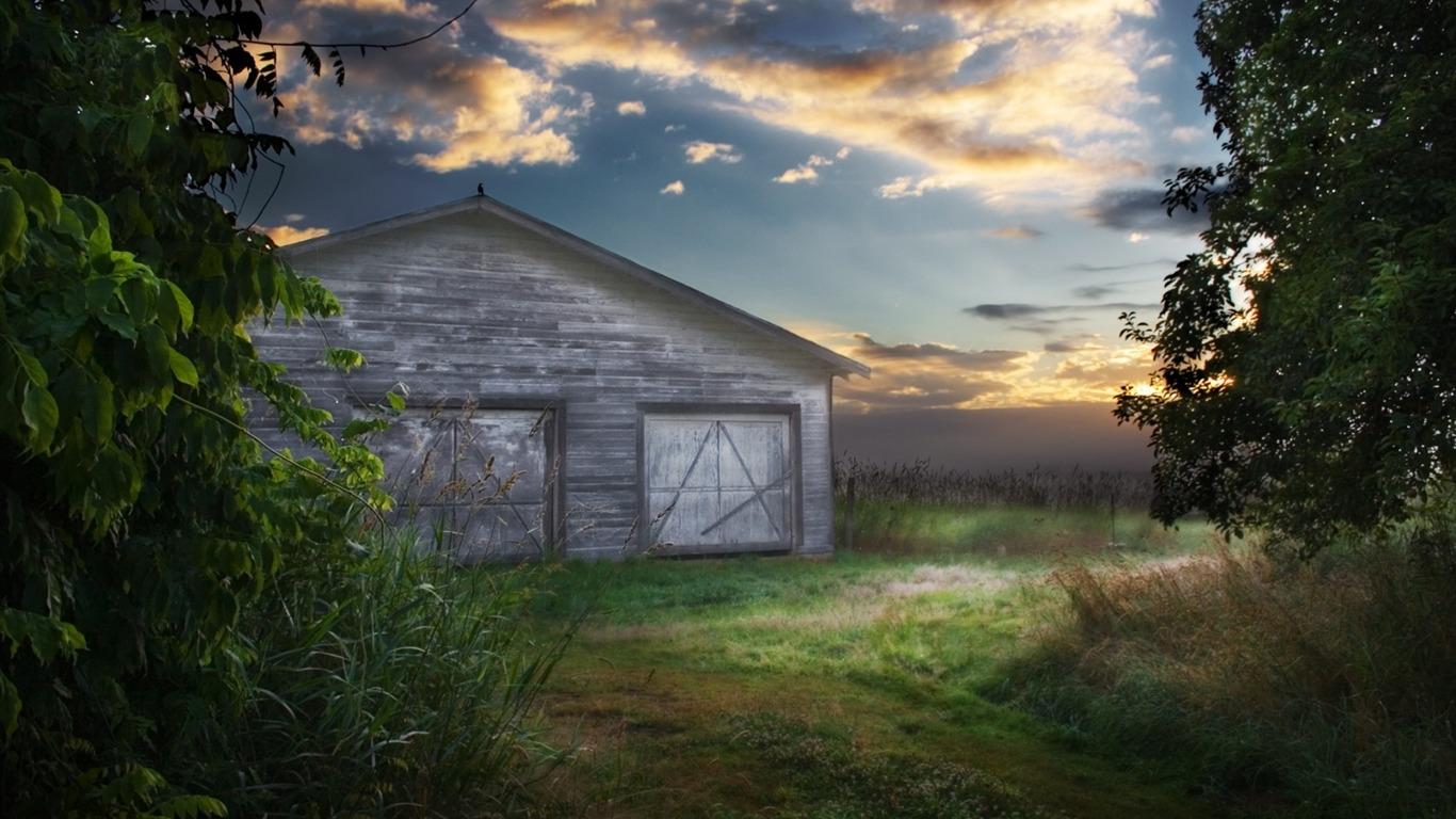 Kansas Dream Home Beautiful Natural Scenery Wallpaper