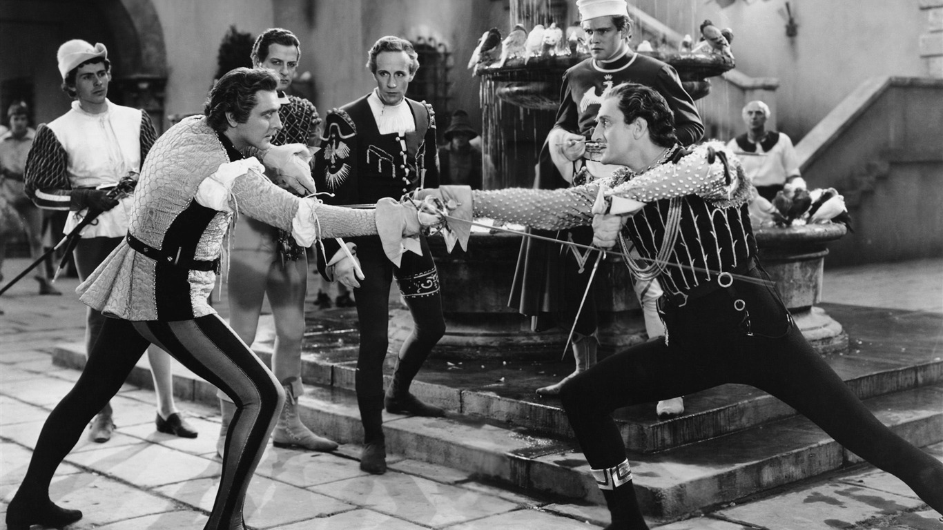 fencing_duel_old_movie-Vintage_style_series_wallpaper