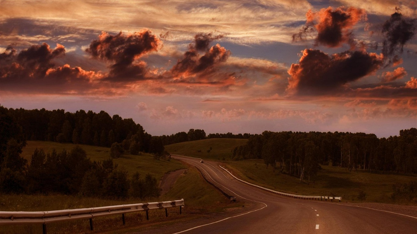 Country Road-Nature Scenery Wallpaper