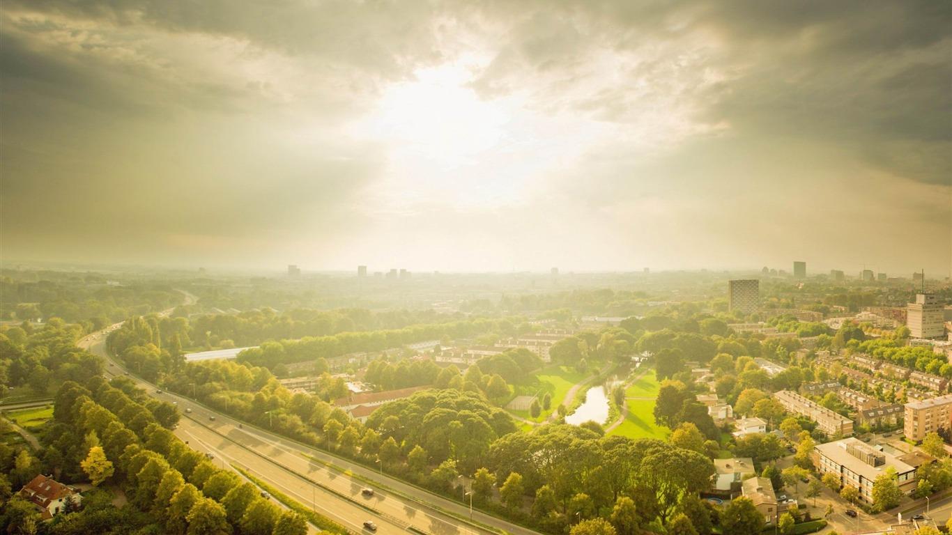 utrecht panorama-Netherlands Landscape Wallpaper - 1366x768 wallpaper ...