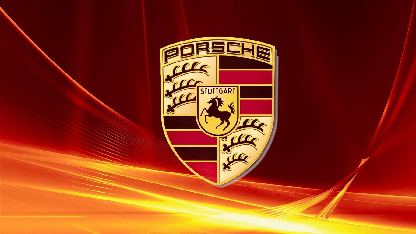 Porsche logo publicitaire de la marque fond d 39 cran aper u for Fond ecran marque