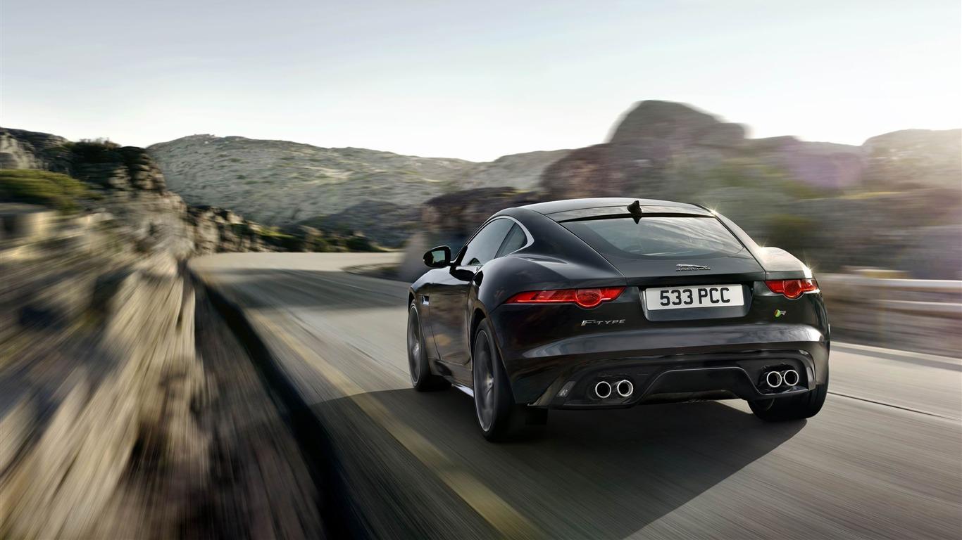 2015 Jaguar F Type R Coupe Car Hd Wallpaper 07 1366x768