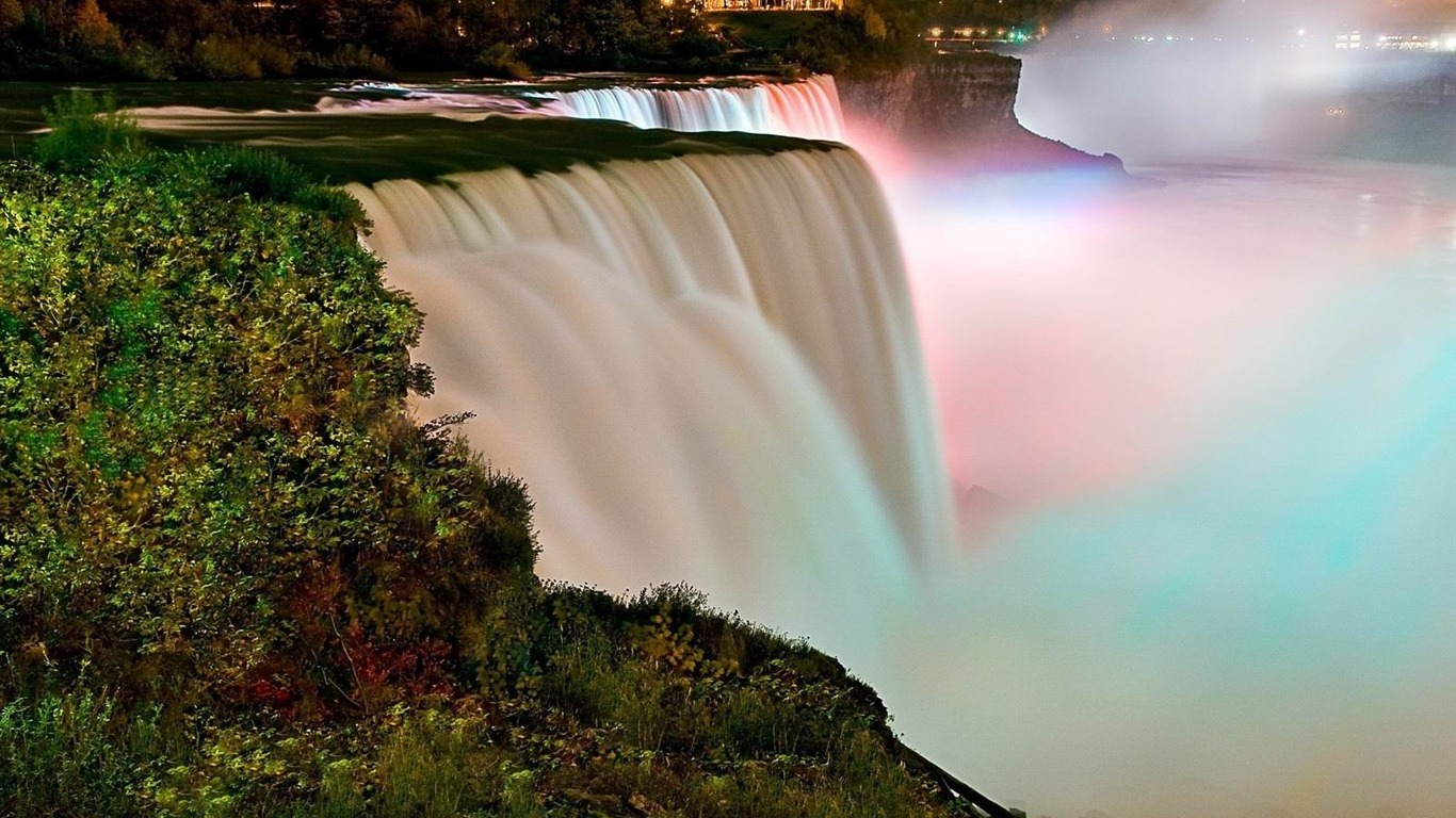 falls_night_rainbow_stream-Photo_HD_Wallpaper