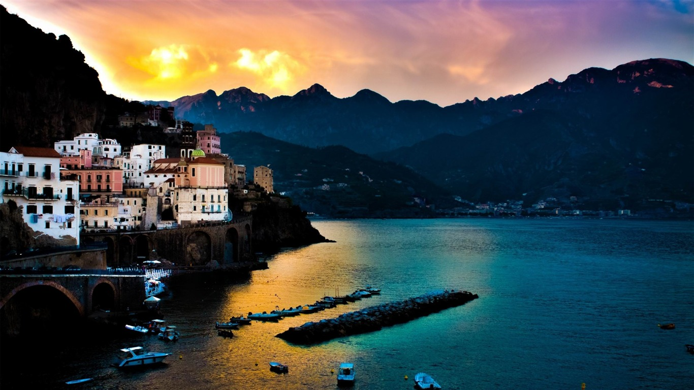 Amalfi Coast Landscape Cities Desktop Wallpaper Preview