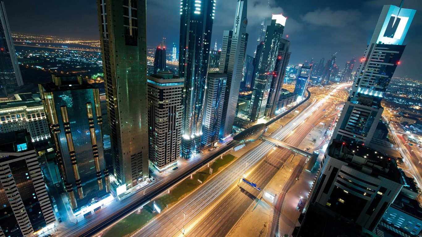 Night_In_Dubai-Cities_Desktop_Wallpaper