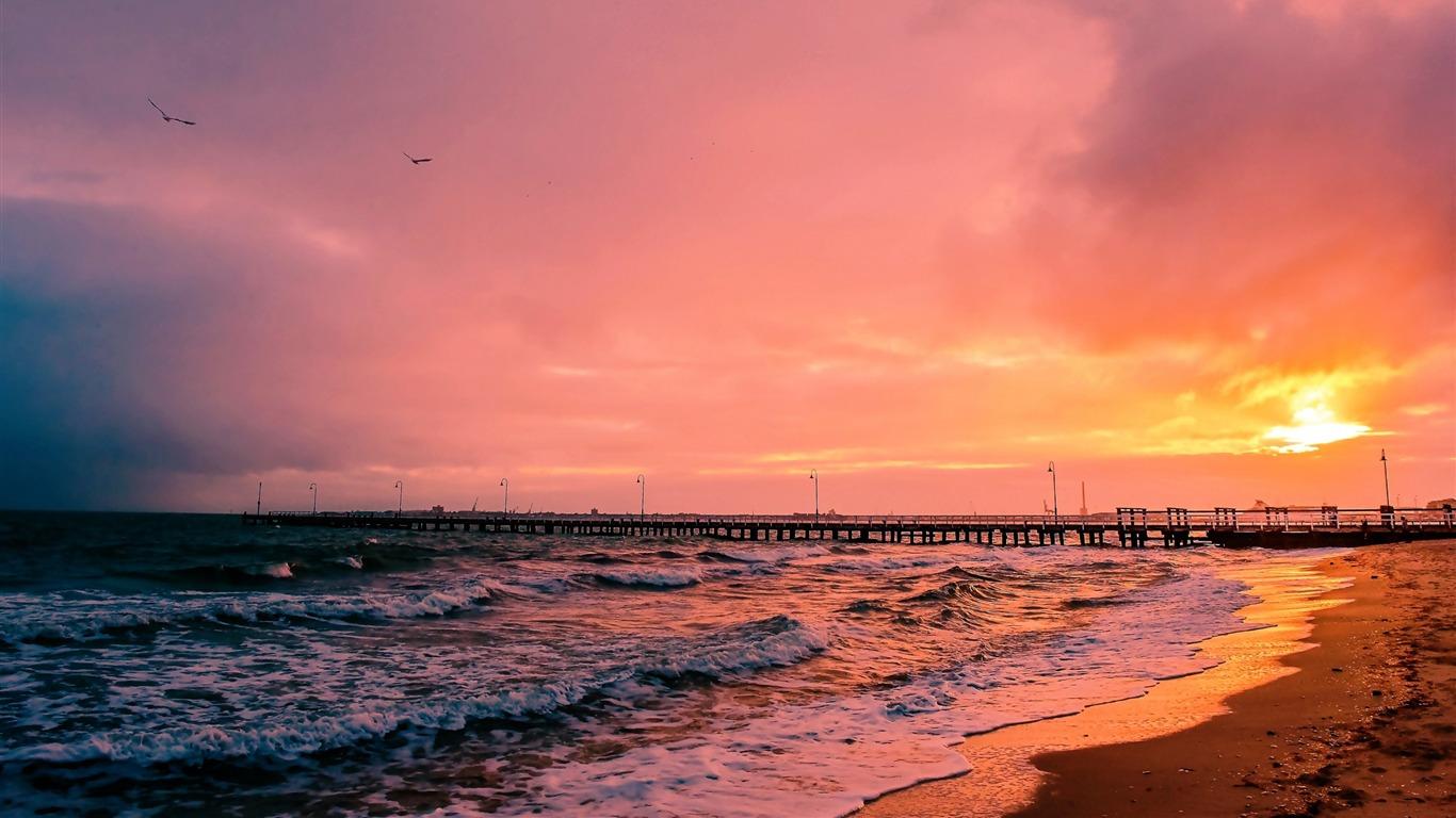 Sunset Sea Sun Landscape Hd Wallpaper Preview 10wallpaper Com