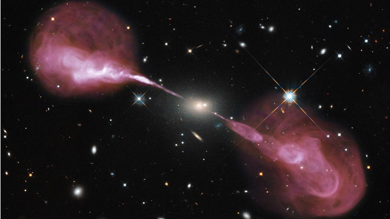 supermassive black holeuniverse space hd wallpaper