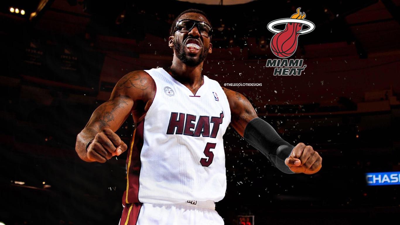 阿玛雷·斯塔德迈尔迈阿密热火-2016年NBA篮球壁纸预览