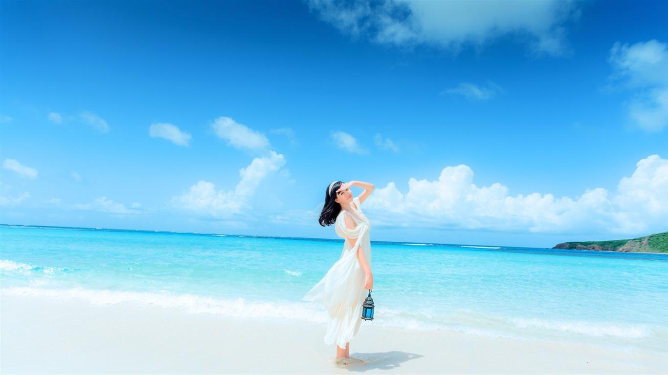 10wallpaper 风景 壁纸 炎热的夏季海滩旅游风光高清壁纸 >>壁纸下载
