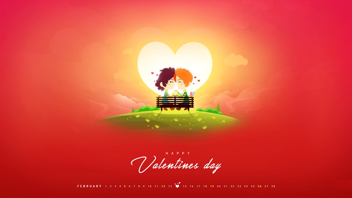 A_Day_Of_Love-February_2017_Calendar_Wallpaper