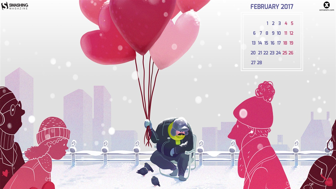 Balloons-February_2017_Calendar_Wallpaper